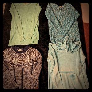Kirra and Roxy sweater plus hoody lot.